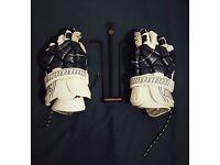 Warrior Lacrosse Gloves Navy
