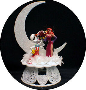 Roger And Jessica Rabbit Cake Topper