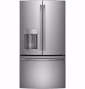 Réfrigérateur 36'', Portes françaises, Congélateur en bas, Stainless