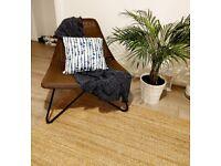 Two STUNNING handwoven rattan armchairs