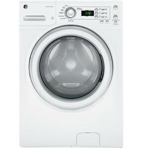 GE White Front-Load Washer (4.2 Cu. Ft.) - GFWN1100HWW