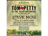 2 tickets for Tom Petty in Hyde park 9th July