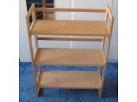 PBFA 3 Tier Folding Bookshelf, Book Case