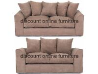 DYLAN JUMBO CORD MOCHA 3+2 OR LH/RH CORNER SEATER SOFA | 1 YEAR WARRANTY | EXPRESS DELIVERY ALL UK