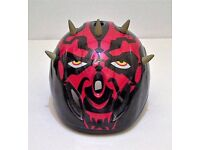 Star Wars Darth Maul Children's Bike Helmet, Size Small. Red and black with Horns!
