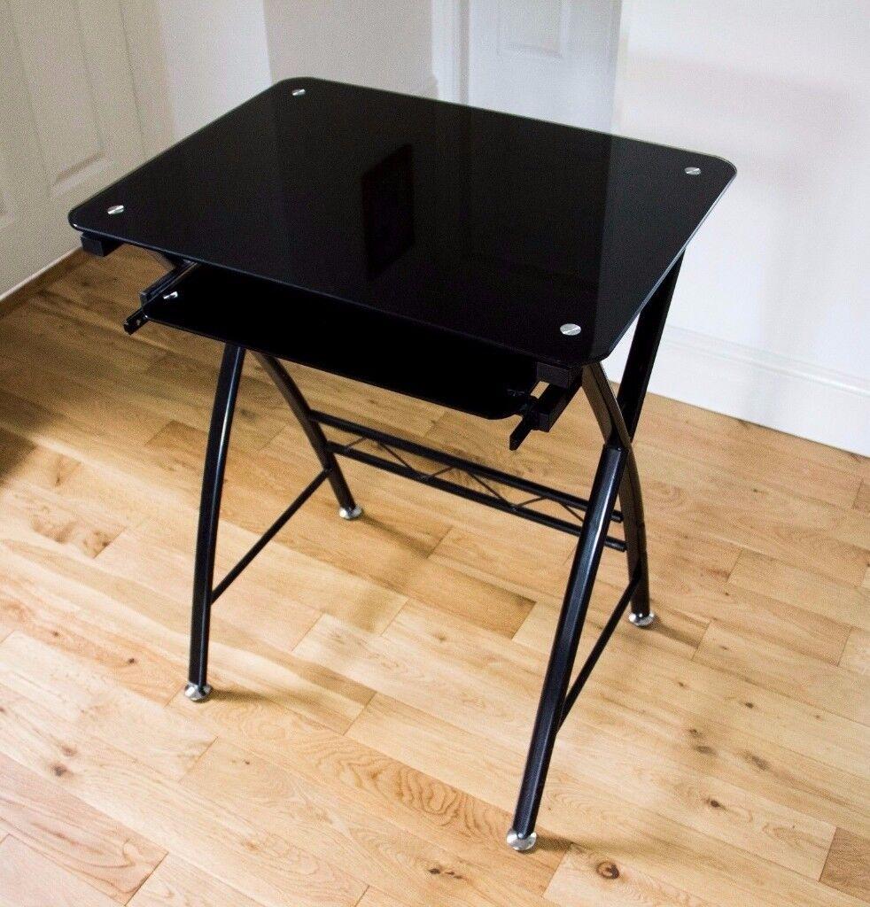 Computer Office Glass Black Desk