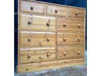 Huge Solid Pine Chest of Drawers