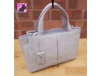 RADLEY - Small/Medium Cream Leather Grab Bag *Immaculate