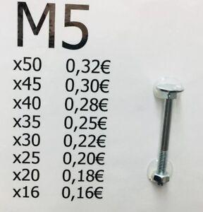 32 Stück M8 x 50 Schlossschrauben m Mutter 8x50 Flachrundschrauben DIN 603 NEU