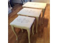 Shabby Chic Nest of Tables....Annie Sloan Painted / Waxed