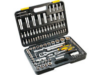 "TOPEX Drive Metric Socket Wrench Set 1/4"" and 1/2"" 108 pcs (38D644)"