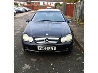 2002 reg Mercedes-Benz C180 Kompressor Se Coupe with 9 month MOT.