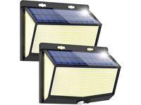 Solar Security Light with Motion Sensor 3 Lighting Modes Waterproof Wireless
