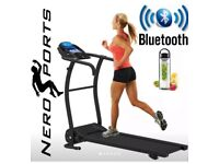 Foldable electric treadmill as new nero sports