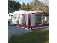 Ventura 910 size 11 Burgundy awning with bedroom annex £250 ono