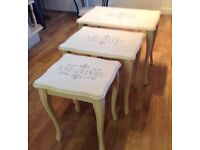 SHABBY CHIC ANNIE SLOAN PAINTED NEST OF TABLES...QUALITY ITEM