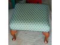 green chunky leg footstool