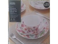 George Home , 12 Piece Full Bloom Dinner Set Brand New Sealed in Box , Unwanted Present