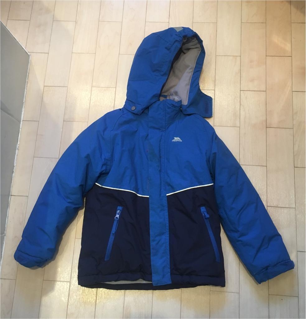 ec0bb55d1 Boys trespass thick waterproof winter blue jacket age 5-6