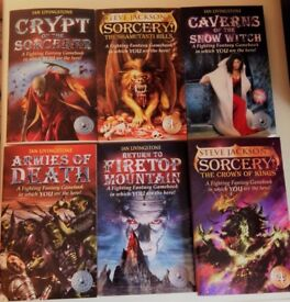 six Fighting Fantasy books (Steve Jackson and Ian Livingstone)