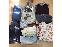 Newborn and up to 3m baby boys clothes bundle