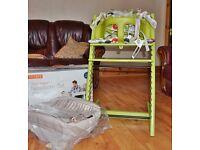 Stokke Highchair + Baby Set + Harness + Cushions + NIB Newborn Set
