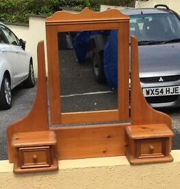 Solid Pine Dressing Table Mirror,