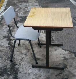 Childrens School Desk & Chair