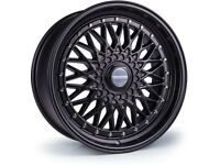 "Mini Vauxhall Fiat Honda x4 17"" Dare Rs Alloy Wheels 4x100 Black BBS Style"