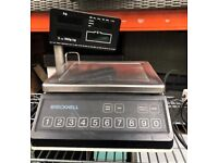 BRECKNELL BS5850 ELECTRONIC SHOP WEIGHING SCALED WITH STAINLESS STEEL PAN