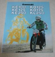 NOS 1978 Kawasaki Dirt Bike Colour Brochure