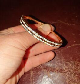 Rose gold swarovski bracelet