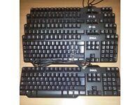 Job lot of 10 x DELL USB Standard Keyboard.