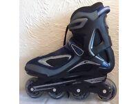 Rollerblades Inline Skates, carry-bag & pads.