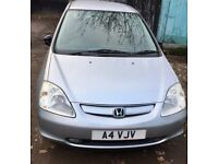 Honda Civic automatic private plate 1 year MOT £ 1450