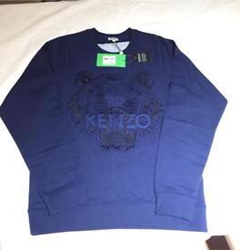 Kenzo sweatshirt blue tiger medium new with tags RRP - £219