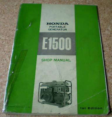 Shop Manual Honda Portable Generator E1500 - Edition 1972
