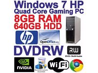 HP XW4600 Gaming / Tower PC 8gb ram 640 gb hdd great for minecraft and schoolwork