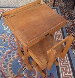 TRIANG CHILD SLOPE TOP DESK & CHAIR