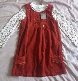 Brand new aged 2-3 NEXT dress & shirt set