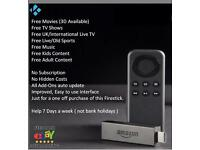 Amazon Fire Stick (Delivery Available) - Fully Loaded with Kodi + Mobdro + MovieBox + Aptoide