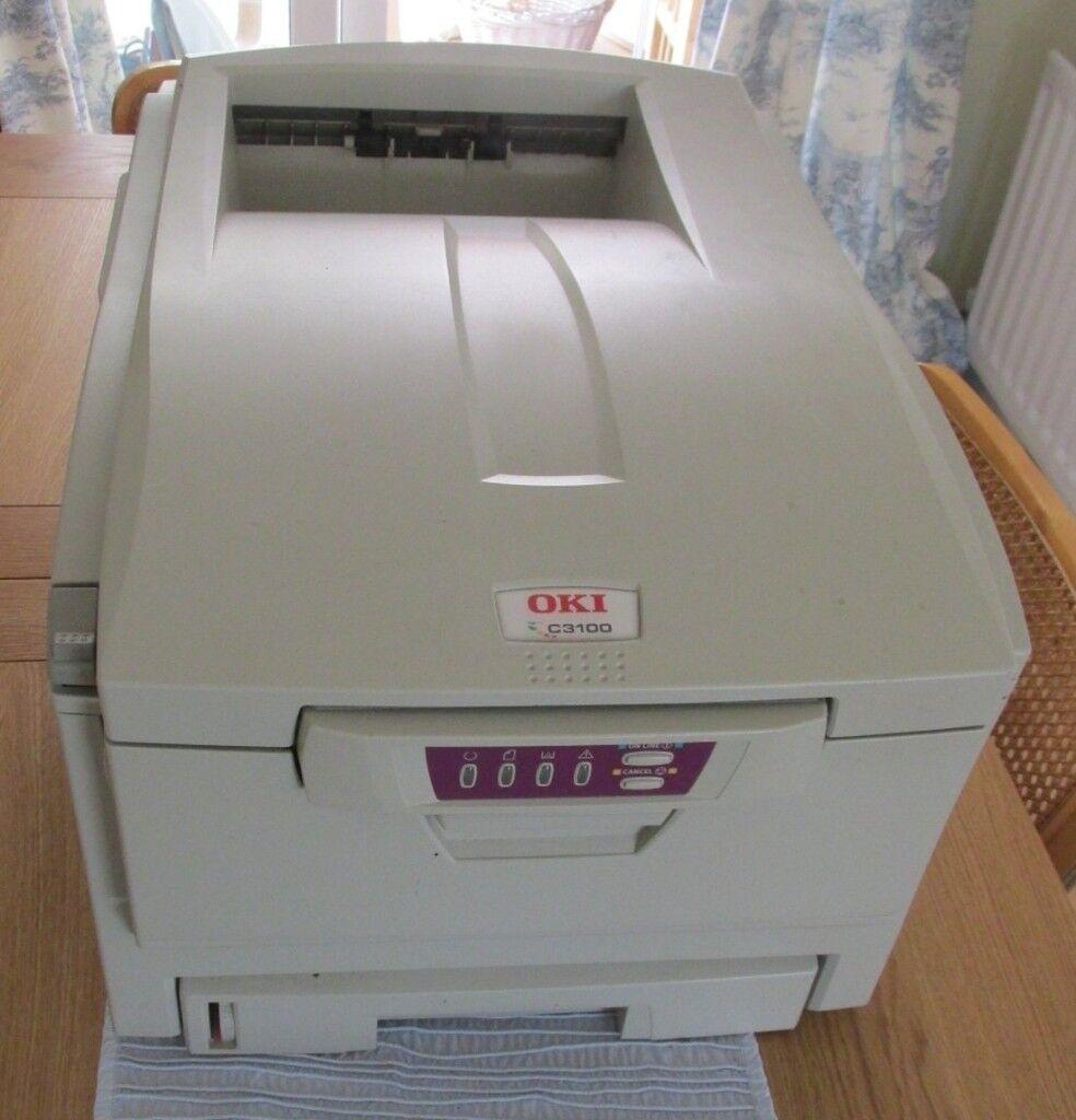 Oki c3100 a4 laser colour printer 4 new toners business cards oki c3100 a4 laser colour printer 4 new toners business cards banner paper colourmoves