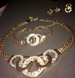Olympia 4pc gold plated jewelry