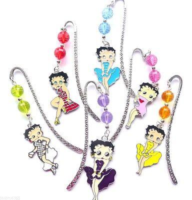 1 Handmade Colourful Betty Boop Charm Pendant Novelty Bookmark Organza Gift Bag  Betty Boop Gift Bag