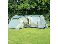 Vango Icarus 800 tent with side extension, footprint and carpet