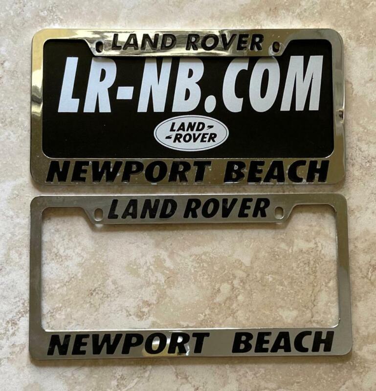 Land Rover Dealer Newport Beach California License Plate Frames Pair 1956+