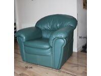 Sofa and Armchair green as new