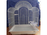 LARGE WHITE CAGE. As new. Only used for a few days.