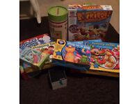 Variety of children's games of mixed ages