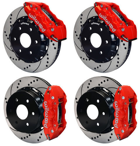 "Wilwood Disc Brake Kit,gmc,chevy Truck 1500 2p,14"",red Calipers,drilled Rotors"